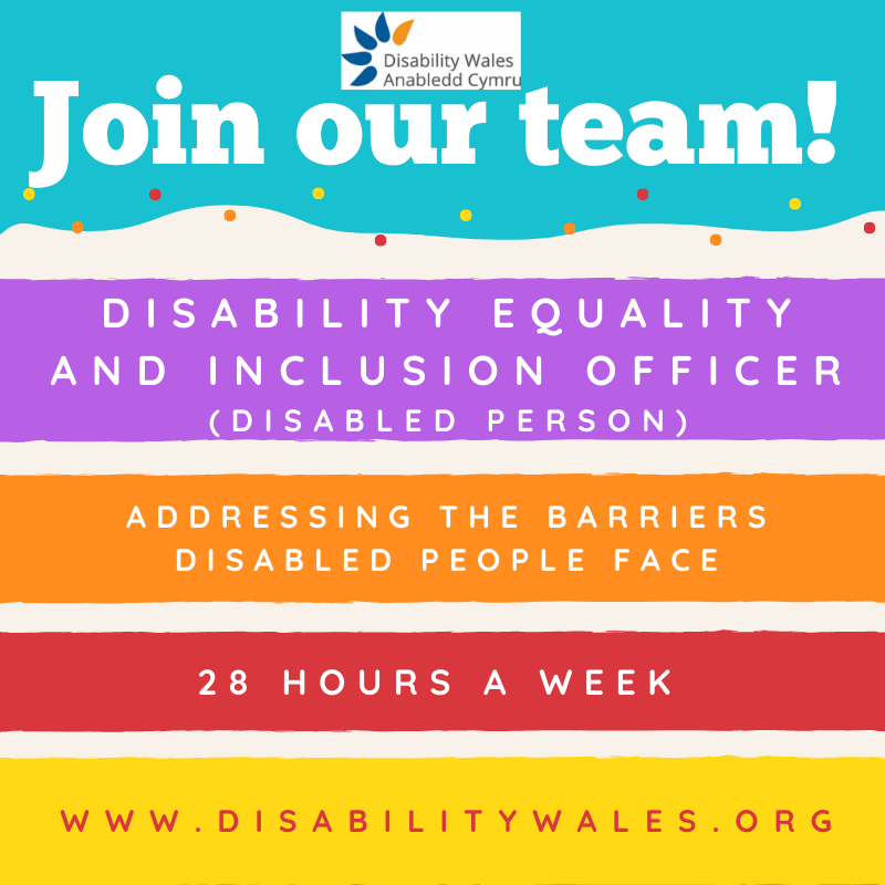 join our team, disability equality and inclusion officer, disabled person, addressing the barriers disabled people face