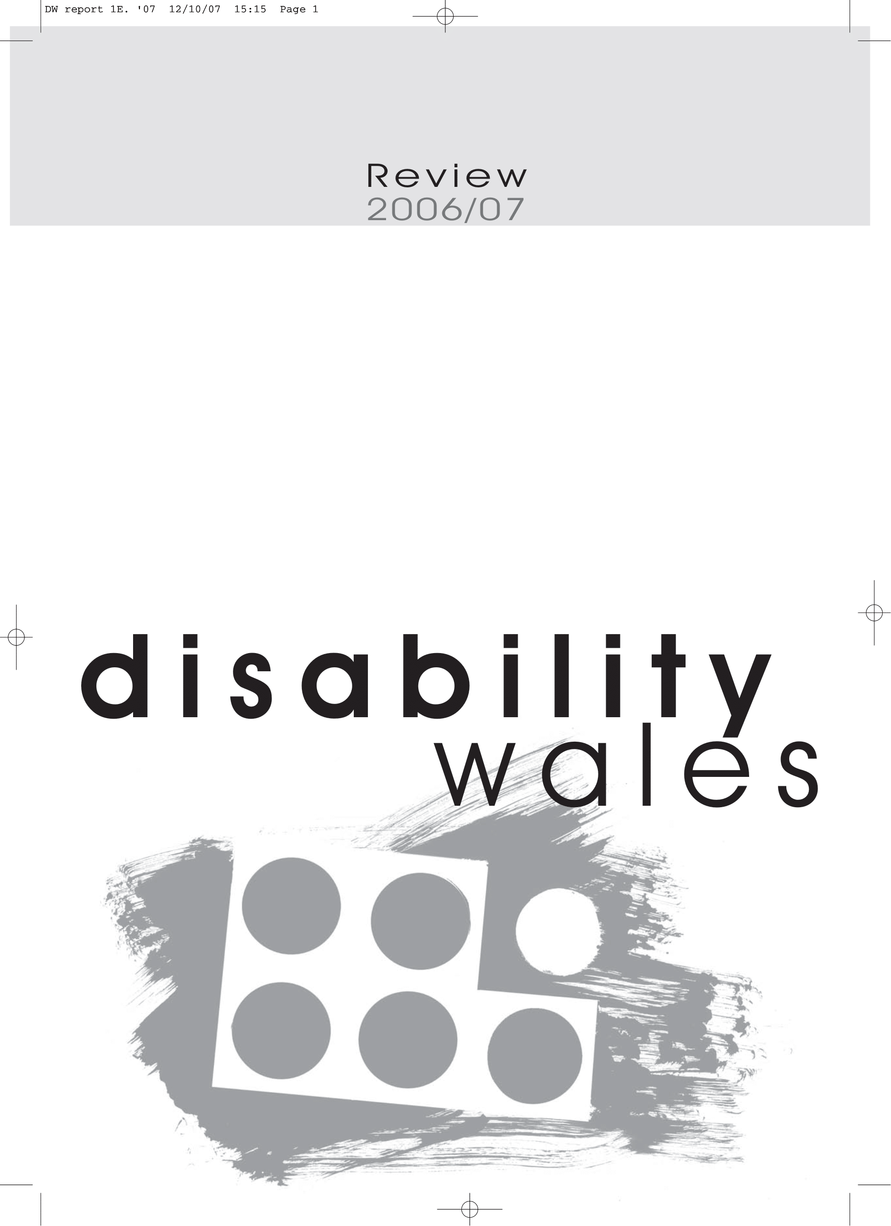 Image for Disability Wales Annual Report 2006-2007