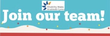 A colourful job advert poster which says Join our team in block white letters on a blue background, there are some details in other brightly coloured boxes underneath with the job title, Scheme Coordinator and hours, 28 per week.